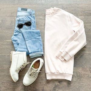 H&M Basics light pink sweatshirt